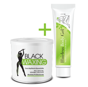 Black Waxing + Hairless Body Gel